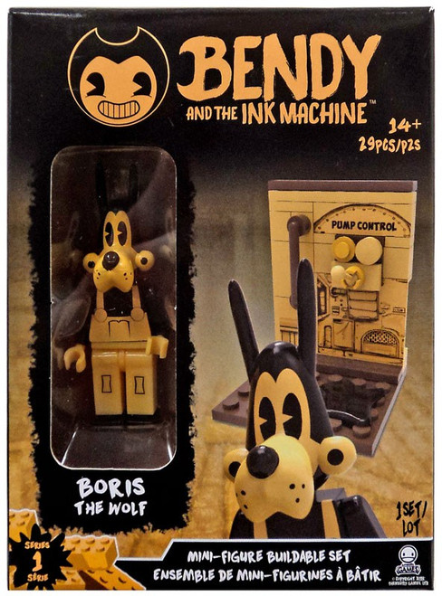 Bendy and the Ink Machine Mini Figure Boris the Wolf Buildable Set
