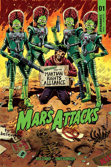 Dynamite Entertainment Mars Attacks #1 Comic Book [Cover C Marron Variant]