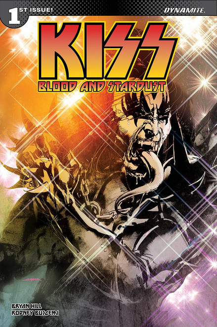 Dynamite Entertainment Kiss Blood Stardust #1 Comic Book [Cover A Sayger Demon]