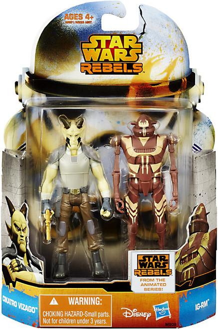 Star Wars Rebels Mission Series Cikatro Vizago & IG-RM Action Figure 2-Pack MS09