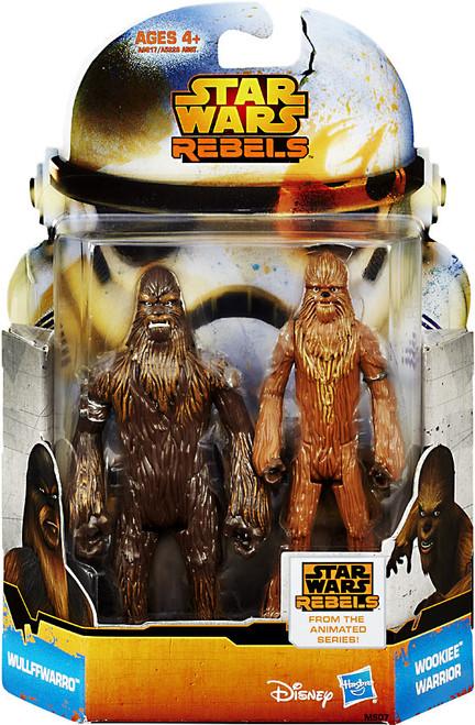 Star Wars Rebels Mission Series Wullffwarro & Wookiee Warrior Action Figure 2-Pack MS07