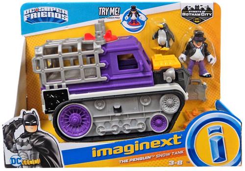 Fisher Price DC Super Friends Imaginext Gotham City The Penguin Snow Tank Figure Set