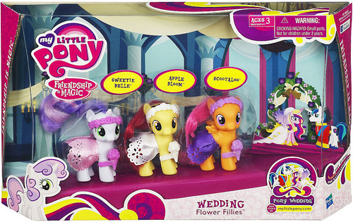 My Little Pony Friendship is Magic Pony Wedding Wedding Flower Fillies Figure Set