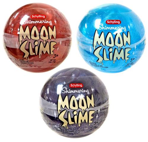 Shimmering Moon Slime Blue, Red & Purple Slime 3-Pack