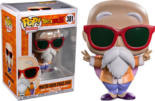 Funko Dragon Ball Z POP! Animation Master Roshi Exclusive Vinyl Figure [Peace Sign]