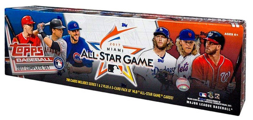 MLB Topps 2017 Baseball Trading Card Set [700 Cards + 5-Card Pack, All-Star Edition]