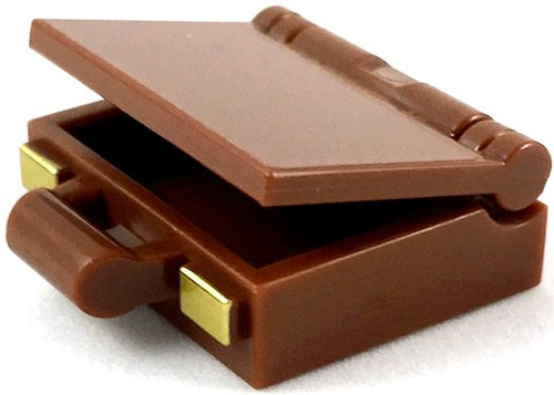 LEGO Brown Suitcase with Gold Clasps [Loose]