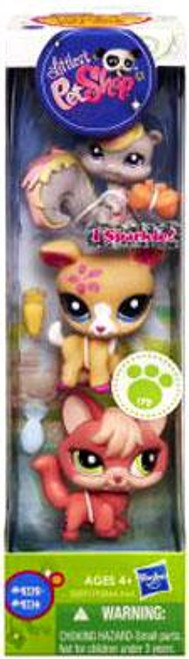 Littlest Pet Shop Squirrel, Deer & Fox Figure 3-Pack #9112 - 9114