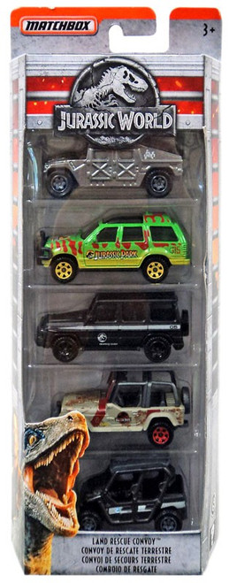 Jurassic World Matchbox Legacy Collection Land Rescue Convoy Diecast Vehicle 5-Pack