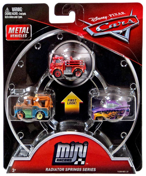 Disney / Pixar Cars Die Cast Mini Racers Red, Mater & Ramone Car 3-Pack