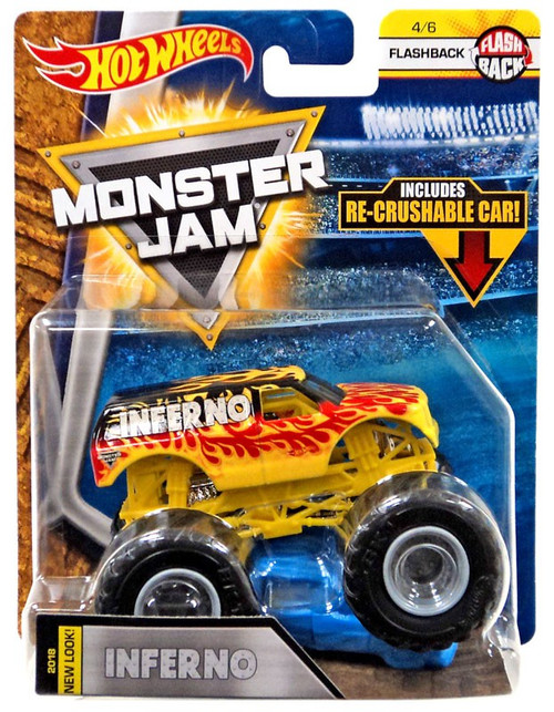 Hot Wheels Monster Jam Inferno Die-Cast Car #4/6 [Flashback]