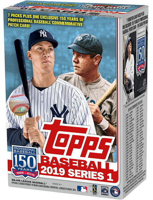 MLB Topps 2019 Series 1 Baseball Trading Card BLASTER Box [7 Packs + 1 Patch Card]