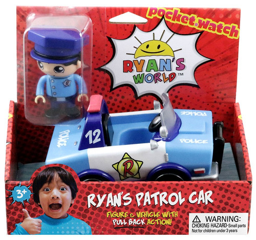 Ryan's World Ryan's Patrol Car 3-Inch Figure & Vehicle