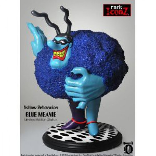 """Knucklebonz Rock Iconz Collector Series """"Chief"""" Blue Meanie Statue [Limited Edition]"""