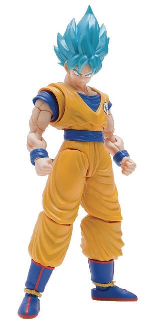 Dragon Ball Figure-Rise Standard Super Saiyan Blue Son Goku 6-Inch Model Kit Figure [Special Color Version]