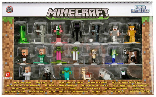 Nano Metalfigs Minecraft Diecast Figure 20-Pack [Version 1]