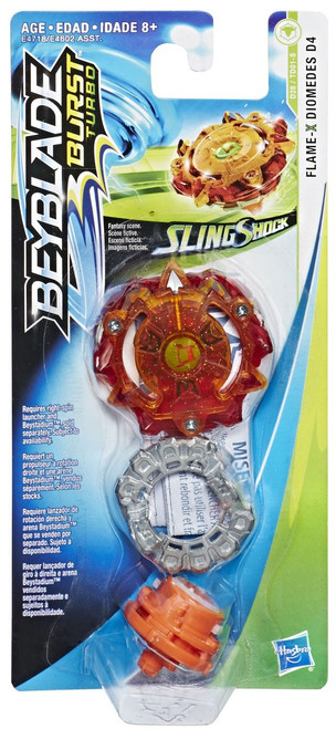 Beyblade Burst Slingshock Flame X Diomedes D4 Single Top