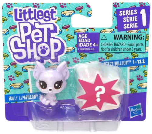 Littlest Pet Shop Frilly LePapillion & Pitley Bullbury Mini Figure 2-Pack