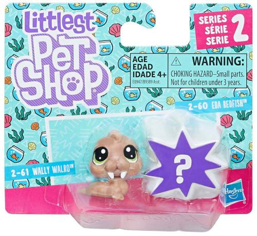 Littlest Pet Shop Wally Walro & EDA Redfish Mini Figure 2-Pack #2-61 & 2-60