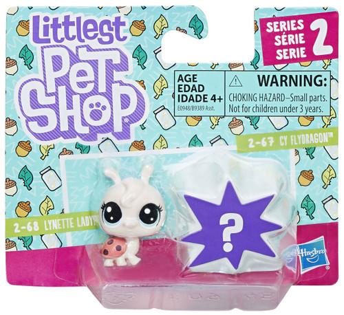 Littlest Pet Shop Ladybug & Dragonfly Mini Figure 2-Pack #2-68 & 2-67