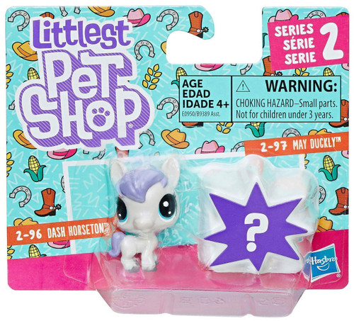 Littlest Pet Shop Dash Horseton & May Duckly Mini Figure 2-Pack #2-96 & 2-97