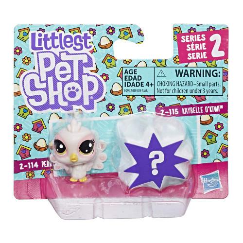 Littlest Pet Shop Perky Peacoa 2-114 & Kaybelle O'Kiwi 2-115 Mini Figure 2-Pack