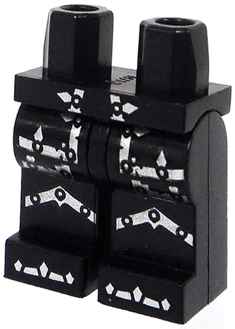 LEGO Black Hips and Legs with Silver Armor Markings Loose Legs [Loose]