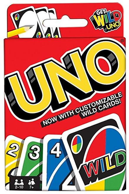Get Wild UNO Card Game [Mattel, Damaged Package]
