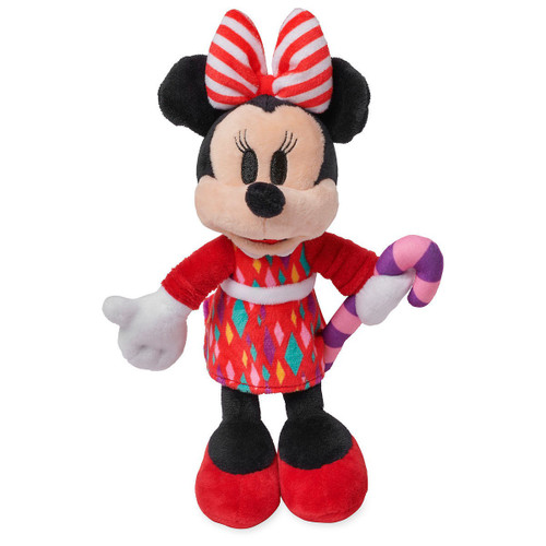 Disney 2018 Holiday Minnie Mouse Exclusive 10-Inch Mini Bean Bag Plush [Candy Cane]