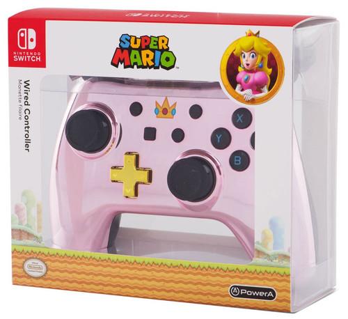 Nintendo Switch Chrome Princess Peach Video Game Controller