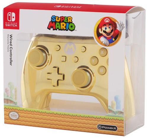 Nintendo Switch Super Mario Gold Chrome Mario Video Game Controller