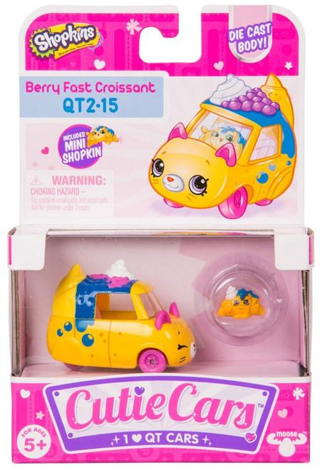 Shopkins Cutie Cars Berry Fast Croissant Figure Pack QT2-15