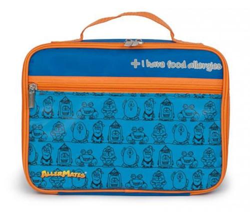 AllerMates I Have Food Allergies Lunch Bag [Blue with Orange Trim]
