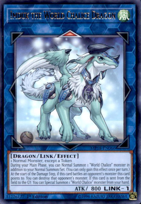 YuGiOh 2018 Mega-Tin Mega Pack Rare Imduk the World Chalice Dragon MP18-EN066