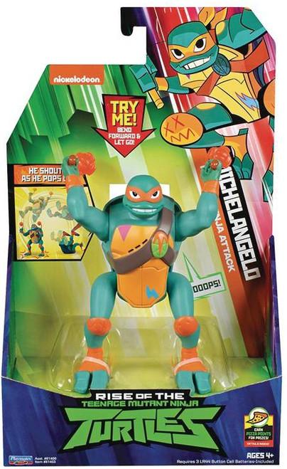 Teenage Mutant Ninja Turtles Nickelodeon Rise of the TMNT Michelangelo Deluxe Action Figure [Popup Ninja Attack]