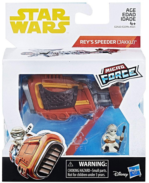 Star Wars Micro Force Rey with Speeder Bike Vehicle