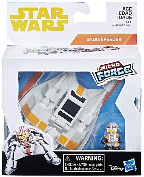 Star Wars Micro Force Luke with Snow Speeder Vehicle