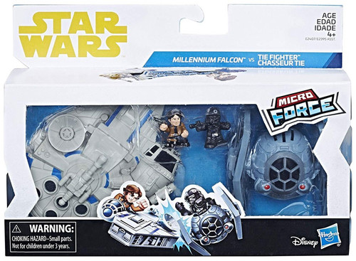 Solo A Star Wars Story Micro Force Millennium Falcon vs Tie Fighter Vehicle 2-Pack