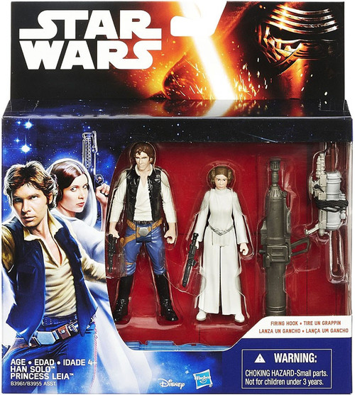 Star Wars A New Hope Han Solo Princess & Leia Organa Action Figure 2-Pack