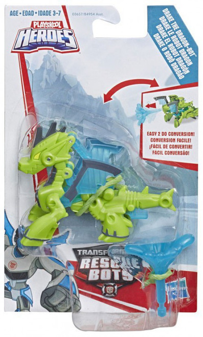 Transformers Playskool Heroes Rescue Bots Drake the Dragonbot Action Figure
