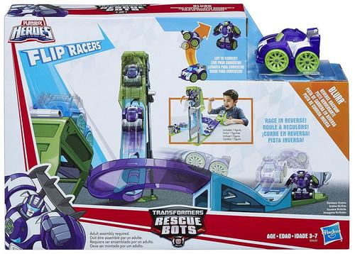 Transformers Playskool Heroes Rescue Bots Blurrs Reverse Raceway Playset