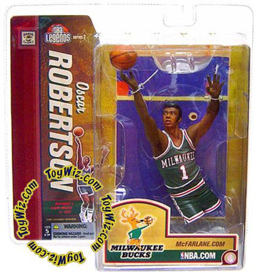 McFarlane Toys NBA Milwaukee Bucks Sports Picks Legends Series 2 Oscar Robertson Action Figure [Green Jersey]