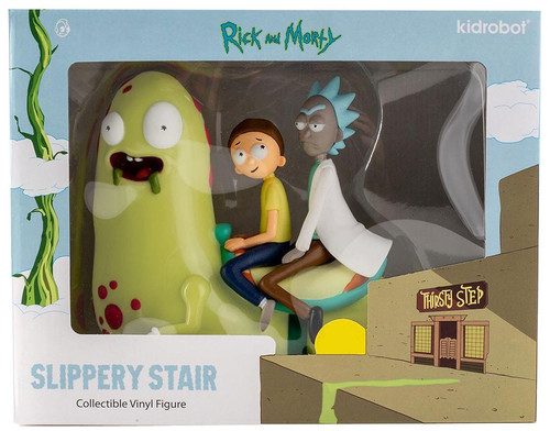 Rick & Morty Collectible Vinyl Art Slippery Stair Exclusive 7-Inch Medium Vinyl Figure [Glow-in-the-Dark]