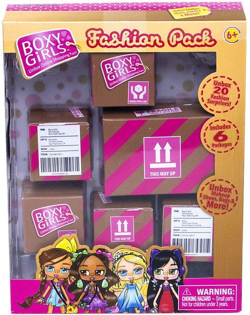 Boxy Girls Series 1 Fashion Pack Shipping Box Mystery 6-Pack