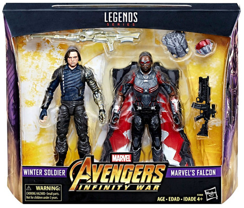 Avengers Infinity War Marvel Legends Winter Soldier & Marvel's Falcon Exclusive Action Figure 2-Pack