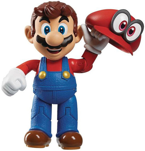 World of Nintendo Wave 13 Mario Odyssey with Hat Action Figure [RANDOM Package, Same Exact Figure]