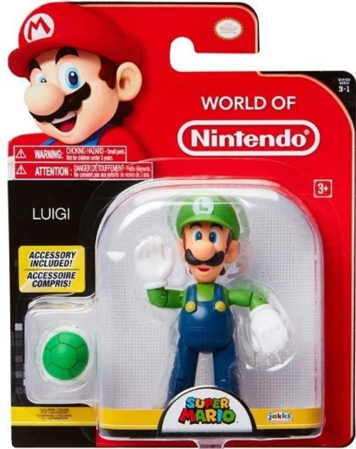 World of Nintendo Wave 13 Luigi with Koopa Shell Action Figure