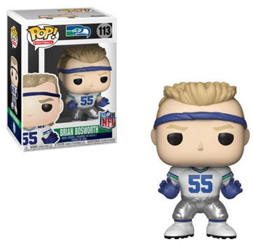 Funko NFL Seattle Seahawks POP! Sports Football Brian Bosworth Vinyl Figure #113