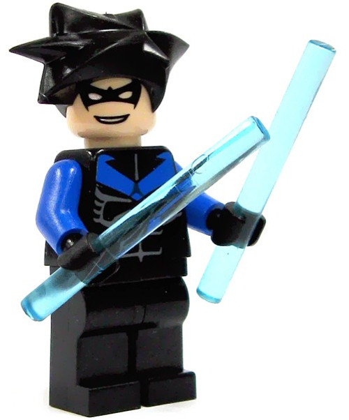 LEGO Batman Arkham Asylum Nightwing Minifigure [Blue Arms & Chest Symbol Loose]