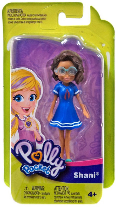 Polly Pocket Trendy Outfit Shani Mini Figure [Blue Dress]